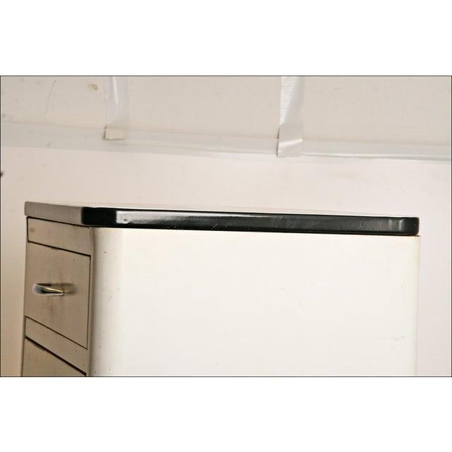 Mid-Century Enamel Top Metal Storage Cabinet - Image 7 of 11