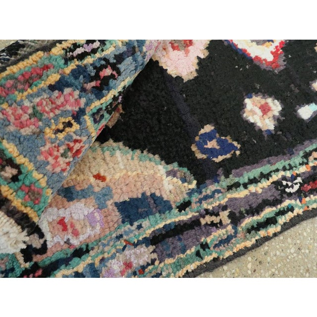 "Cotton Vintage Persian Gabbeh Rug – Size: 1' 11"" X 4' 2"" For Sale - Image 7 of 9"