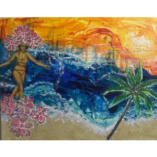 Surfs Up Malibu Painting For Sale