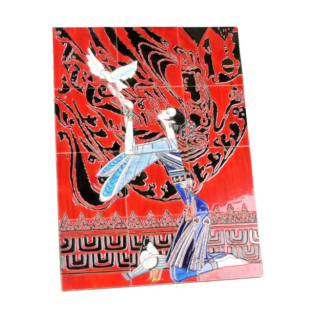 Geisha Tile Wall Art Plaque For Sale - Image 9 of 9