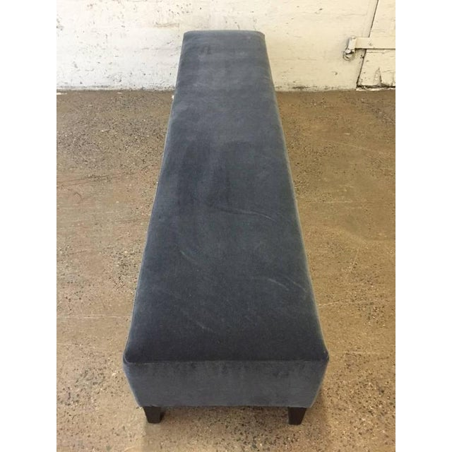 7 ft. Long Art Deco Upholstered Bench For Sale - Image 4 of 4