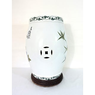 Vintage Porcelain Bamboo & Peony Traditional Chinese Drum Garden Stool / Side Table & Custom Pedestal Preview