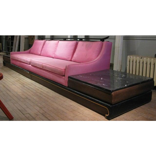 Pink Vintage Platform Sofa by Norman Fox Macgregor For Sale - Image 8 of 8