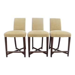 Set of 3 Vintage John Hutton for Donghia Bar Stools