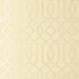 Sample - Schumacher Imperial Trellis Wallpaper in Alabaster Preview