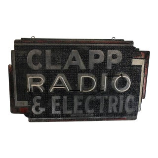 "1930s Vintage ""RADIO"" Neon Sign For Sale"