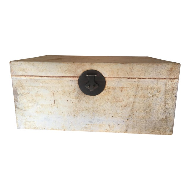 Chinese White Pigskin Trunk - Image 1 of 10