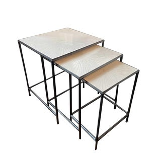 Contemporary Ironies Papyri Nesting Tables - 3 Piece Set For Sale