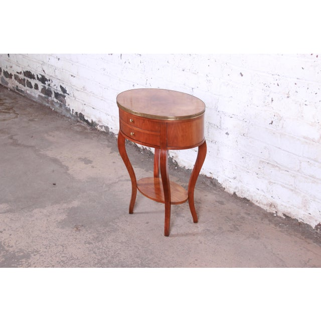Baker Furniture Company Baker Furniture French Regency Mahogany and Brass Side Table For Sale - Image 4 of 13