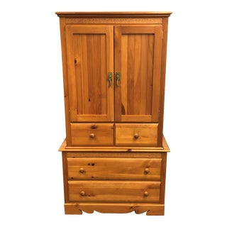 Master Craft Knotty Pine Armoire