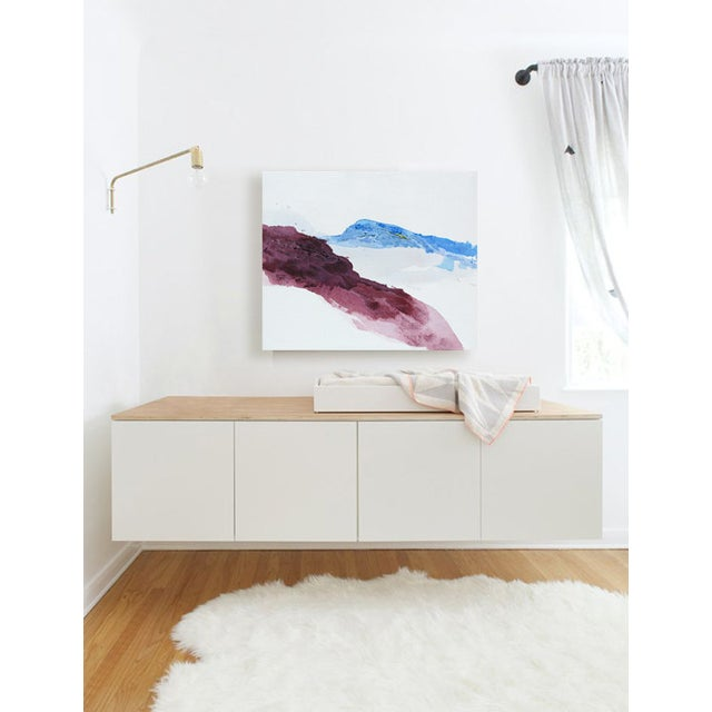 Violet Mountainside Abstract Landscape Painting - Image 2 of 3