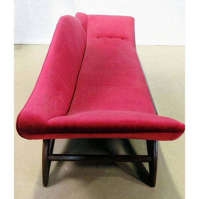Textile Adrian Pearsall Gondola Style Upholstered Sofa For Sale - Image 7 of 12
