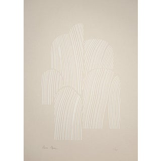 Contemporary Minimalist Abstract Limited Edition Screen Print For Sale