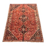 "Image of 1960's Vintage Shiraz Area Rug-6'4""x8'9"" For Sale"