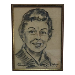 """1966 """"Bagino Philippines"""" Portrait Drawing by Rich Arpero, Framed For Sale"""