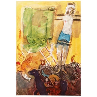 "1947 M. Chagall Original ""Résurrection"" Period Lithograph, C. O. A. For Sale"