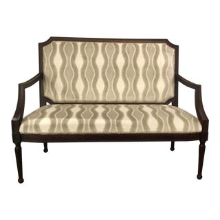 Ferguson Copland Transitional Gray Settee For Sale