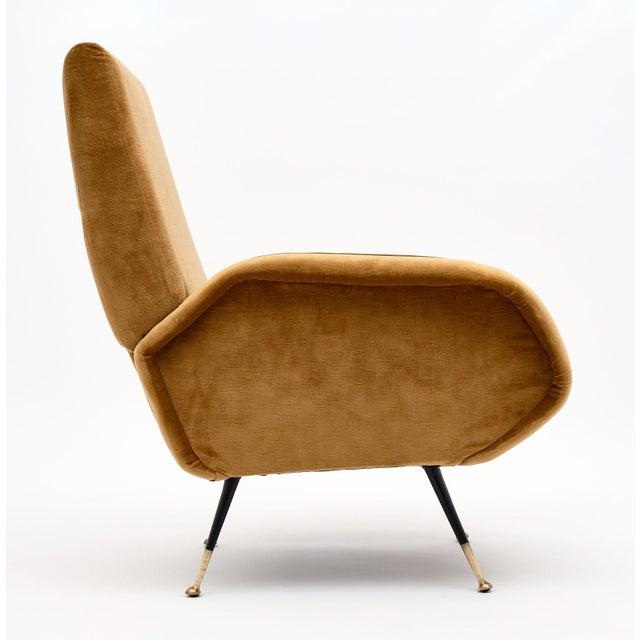 Gold Gold Velvet Vintage Italian Armchairs For Sale - Image 8 of 10