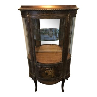 1800's Antique Hand Painted French Display Case For Sale