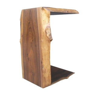 Modern Costantini Carlo Custom Live-Edge Occasional Rosewood Side Table