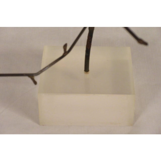 1970s Free-Form Abstract Sculpture on Lucite Base For Sale - Image 9 of 10