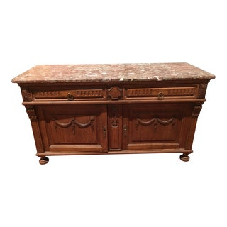Napoleon III Marble Top Low Server
