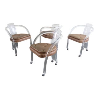 Set of 4 (Four) Iconic Charles Hollis Jones Dining Chairs For Sale