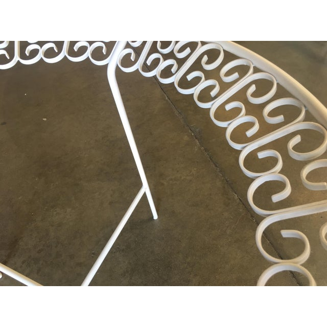Metal Ribbon Patio/Outdoor Picnic Table by Maurizio Tempestini for Salterini For Sale - Image 7 of 9
