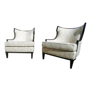 Henredon Furniture Barbara Barry Walnut Accent/Lounge Chair - a Pair For Sale