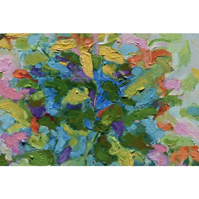 """Abstract """"Bouquet on Light Gray Ground"""" Painting by Stephen Remick For Sale In Providence - Image 6 of 11"""