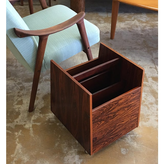 Rolf Hesland, Norway , For Storage; Periodicals, vinyl records, books. Rosewood veneer over heavy pressed wood. 3...