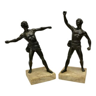Antique French Spelter Statues - A Pair