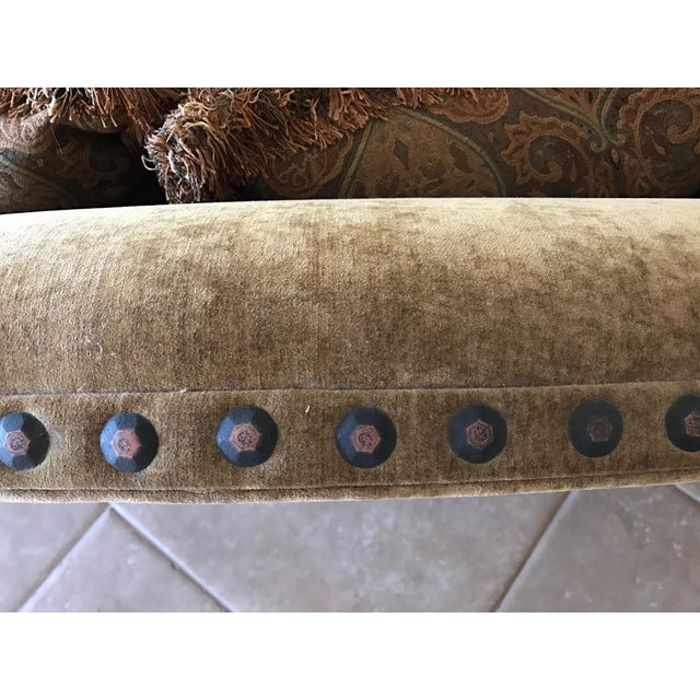 Green Marge Carson Style Sofa For Sale - Image 8 of 8