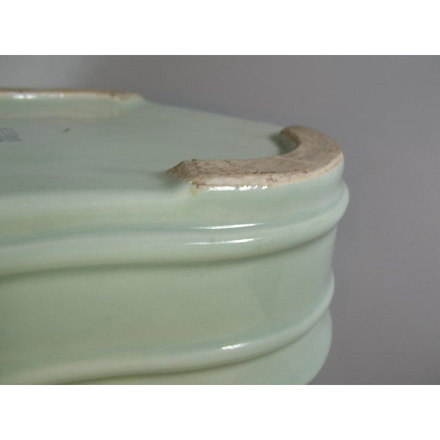 19th Century Chinese Celadon Butterfly Bowls - a Pair For Sale - Image 9 of 11
