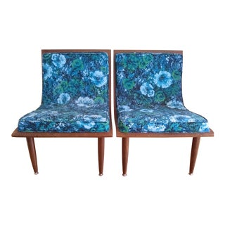 """1960s Mid-Century Modern Molded Plywood """"Sofette Group"""" Chairs - a Pair"""