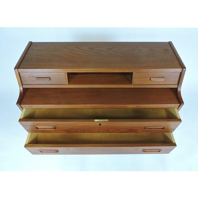 Vinde Mobelfabrik Arne Wahl Iversen Danish Modern Teak Secretary Desk Model 70 For Sale - Image 4 of 12