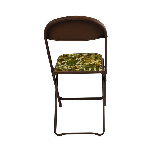 Vintage Tapestry Folding Chairs - S/4 - Image 4 of 6