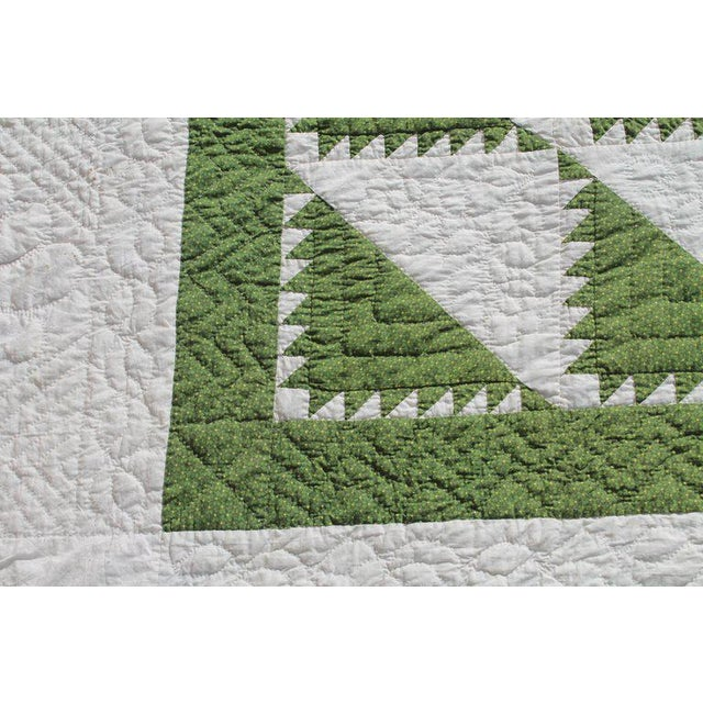 Antique Quilt 19th Century Delectable Mountains Quilt For Sale - Image 4 of 9