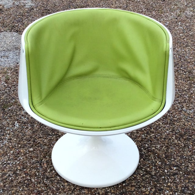 Late 20th Century Late 20th Century Vintage Eero Aarnio Finland Green Leather Cognac Chair For Sale - Image 5 of 6