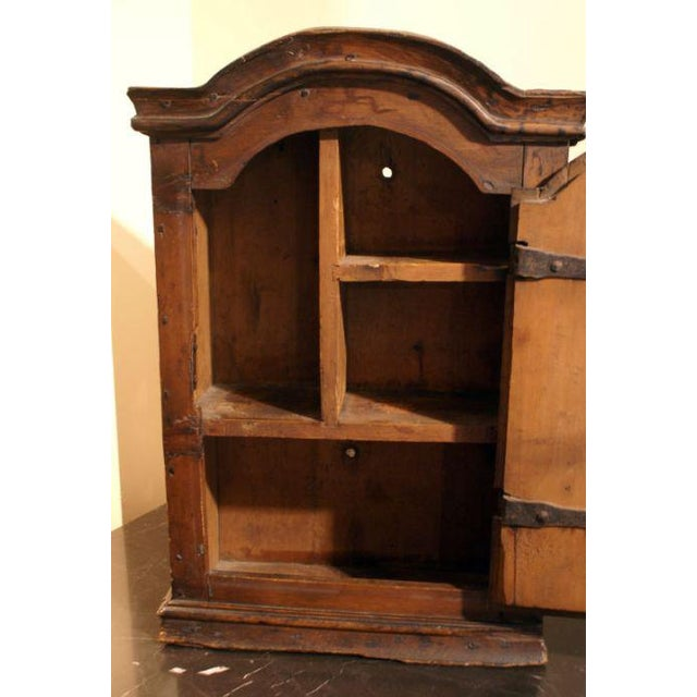 18th Century Swedish Small Pine Spice Cabinet For Sale - Image 4 of 4