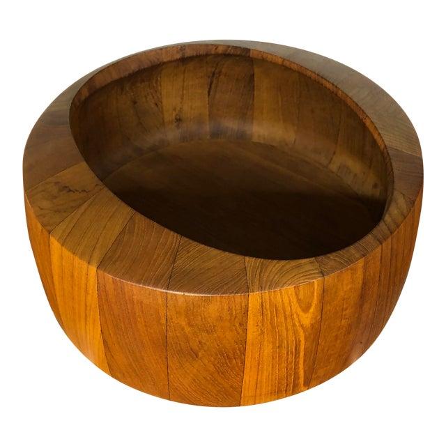 Jens Quistgaard Staved Teak Bowl by Dansk For Sale