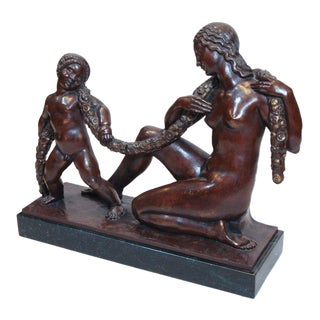 Art Deco Bronze by Joe Descomps For Sale