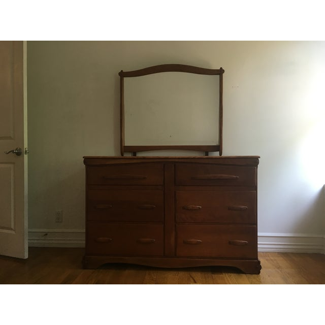 Vintage Mid Century 6-Drawer Dresser With Mirror - Image 3 of 11