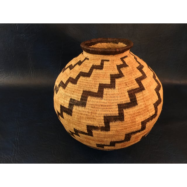 Organic Colombian Werregue Round Woven Basket - Image 2 of 7