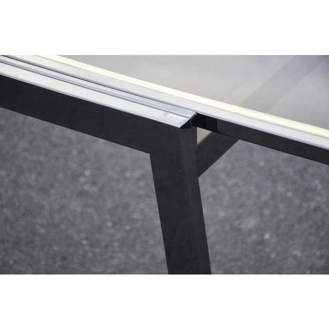 Dia Gunmetal Chrome Modern Dining Table For Sale - Image 7 of 11