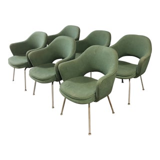 Set of 6 Saarinen Executive Armchairs by Knoll For Sale