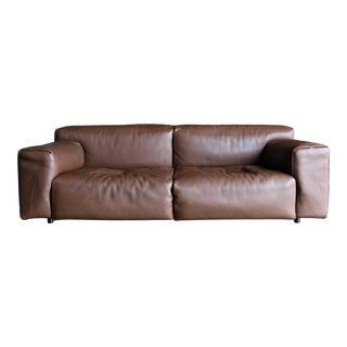 "Piero Lissoni Leather "" Softwall "" Sofa for Living Divani Circa 2006 For Sale"