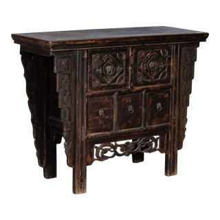 Antique Chinese Pine Cabinet For Sale