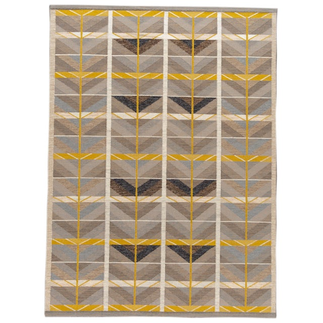 21st Century Modern Scandinavian Style Flat-Weave Rug For Sale - Image 12 of 12