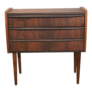 Original Danish Modern Rosewood Night Stand / Dresser - Sukker For Sale